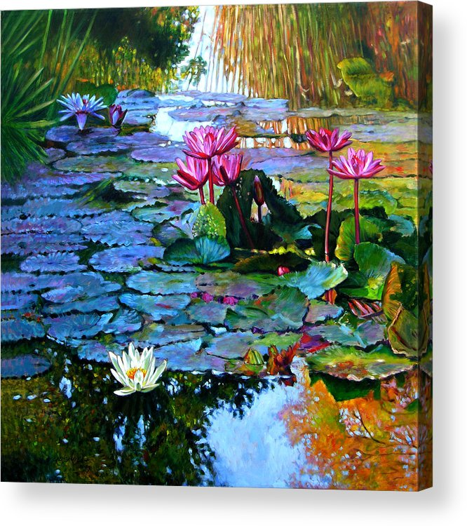 Landscape Acrylic Print featuring the painting Expressions from the Garden by John Lautermilch