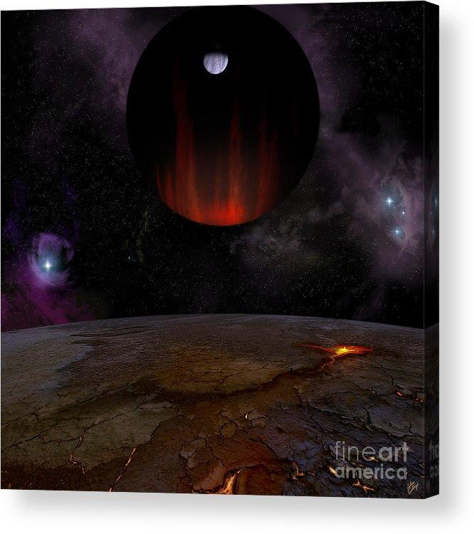 Extrasolar Planet Acrylic Print featuring the digital art Extrasolar planet HD149026b by Julius Csotonyi