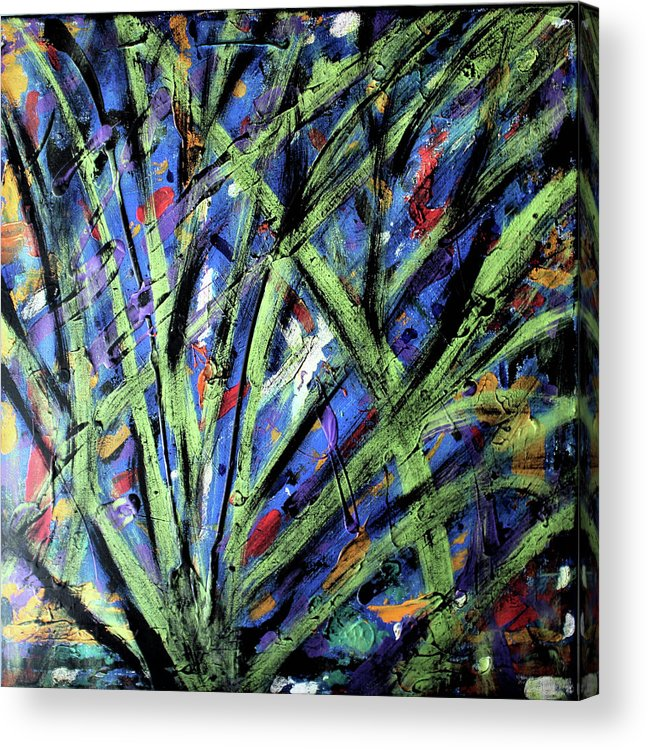 Abstract Acrylic Print featuring the painting Fall Haze by Pam Roth O'Mara