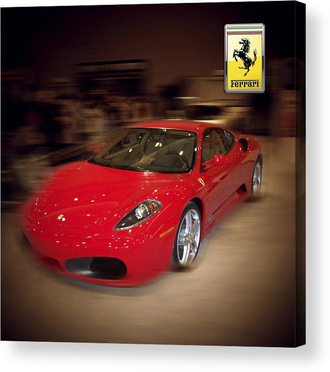 �auto Corner� Collection By Serge Averbukh Acrylic Print featuring the photograph Ferrari F430 - The Red Beast by Serge Averbukh
