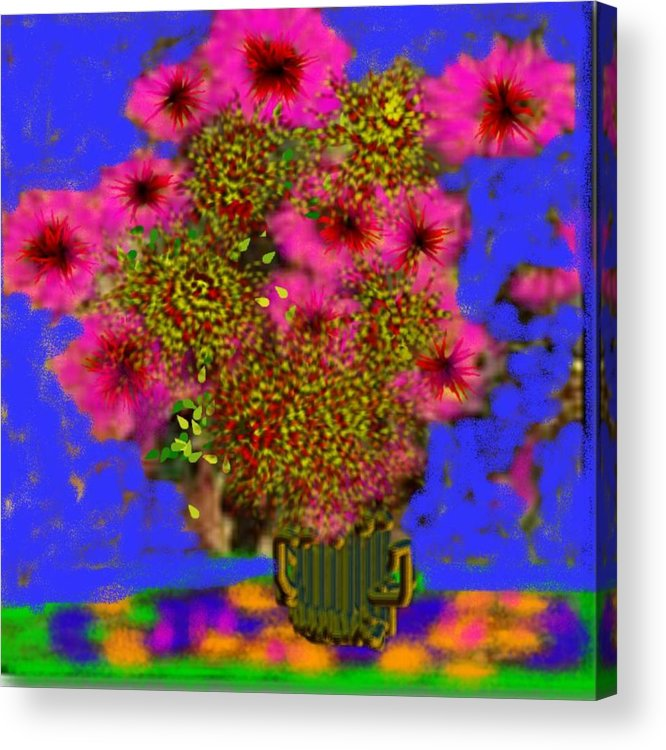Flowers Acrylic Print featuring the digital art Flowers on the table by Dr Loifer Vladimir