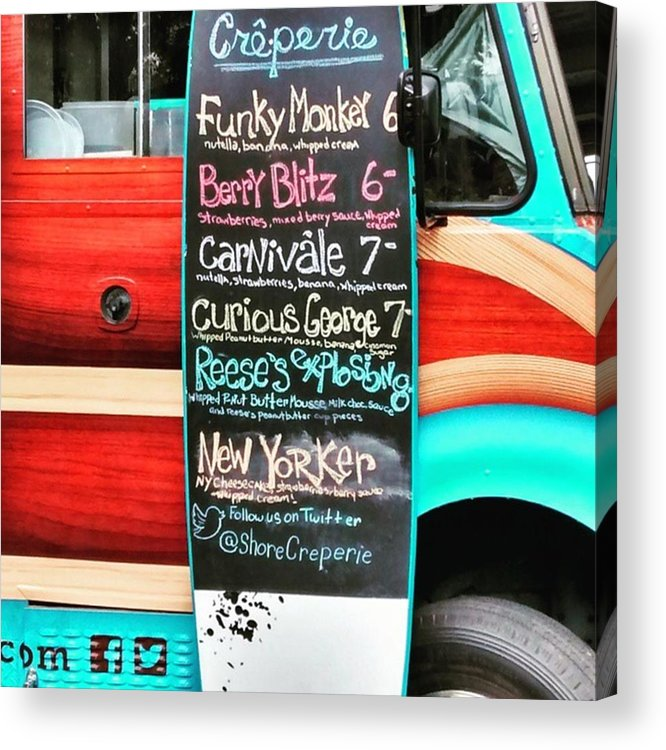 Jersey Shore Acrylic Print featuring the photograph Funky Monkey Food Truck by Colleen Kammerer