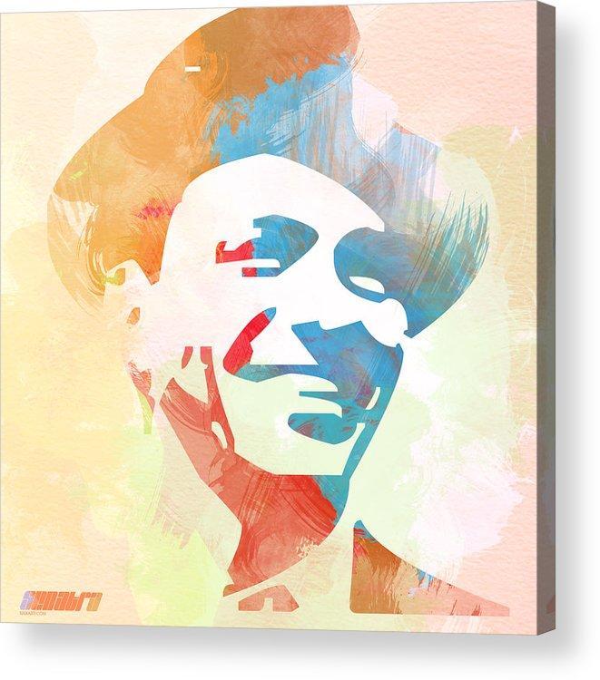 Frank Sinatra Acrylic Print featuring the painting Frank Sinatra by Naxart Studio