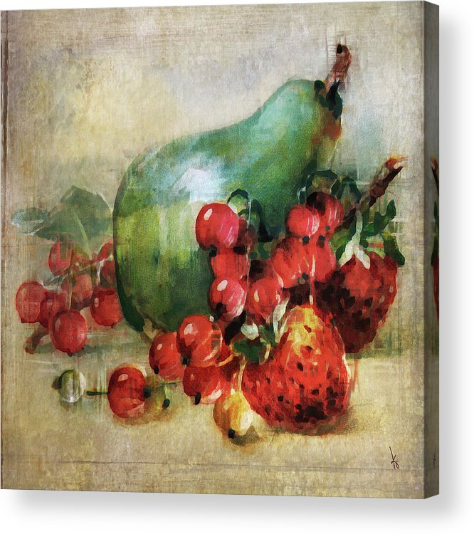 Pear Acrylic Print featuring the digital art Fruitiful by Krista Droop