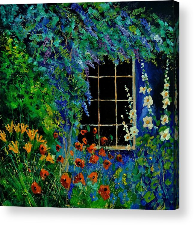 Flowers Acrylic Print featuring the painting Garden 88 by Pol Ledent