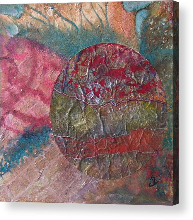 Abstract Acrylic Print featuring the painting Global Series 1 by John Vandebrooke