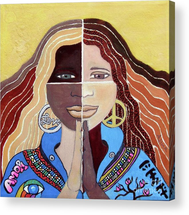 Peace Acrylic Print featuring the painting Harmony2 by Alima Newton