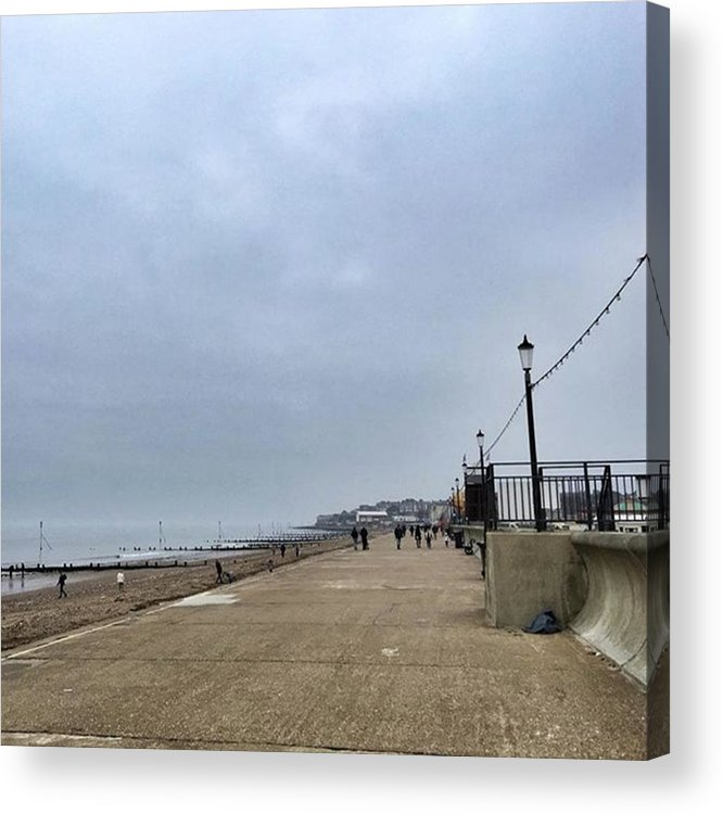 Beautiful Acrylic Print featuring the photograph Hunstanton At 4pm Yesterday As The by John Edwards