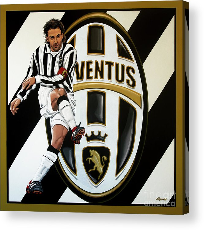 Juventus Acrylic Print featuring the painting Juventus Fc Turin Painting by Paul Meijering
