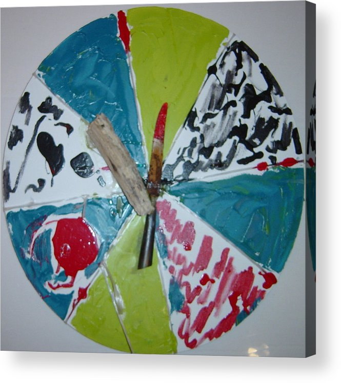 Acrylic Print featuring the painting Knife and beachfindings by Biagio Civale