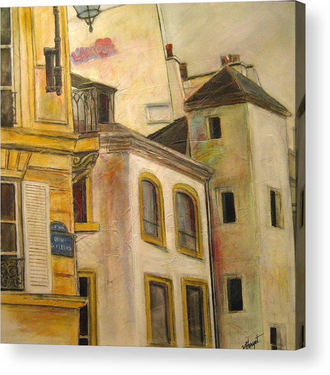 Paris Acrylic Print featuring the painting L Amour by Victoria Heryet