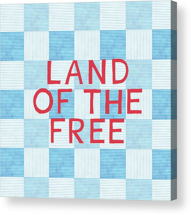 Land Of The Free Acrylic Print featuring the painting Land Of The Free by Linda Woods