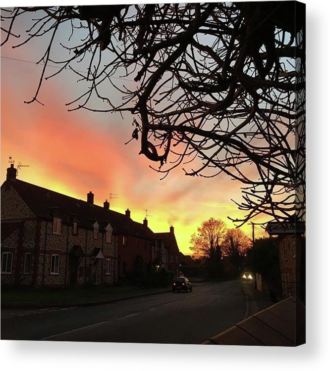Natureonly Acrylic Print featuring the photograph Last Night's Sunset From Our Cottage by John Edwards
