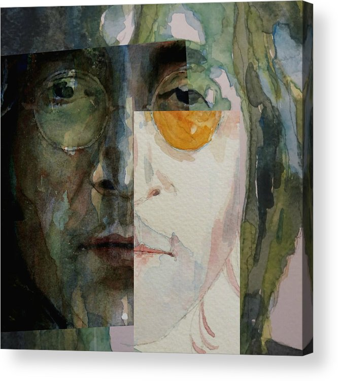 John Lennon Acrylic Print featuring the painting Look @ Me by Paul Lovering