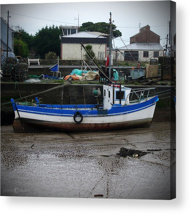 Boat Acrylic Print featuring the photograph Low Tide by Tim Nyberg