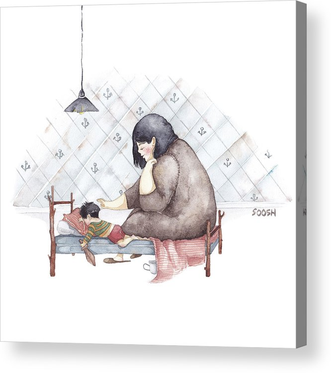 Illustration Acrylic Print featuring the painting Mama by Soosh