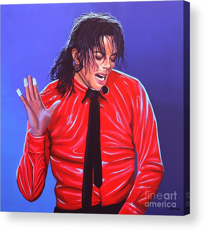 Michael Jackson Acrylic Print featuring the painting Michael Jackson 2 by Paul Meijering