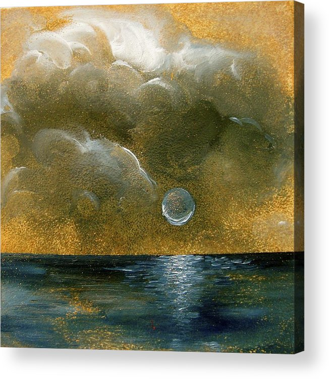 Moon Acrylic Print featuring the painting Moon Scape by Karen Doyle