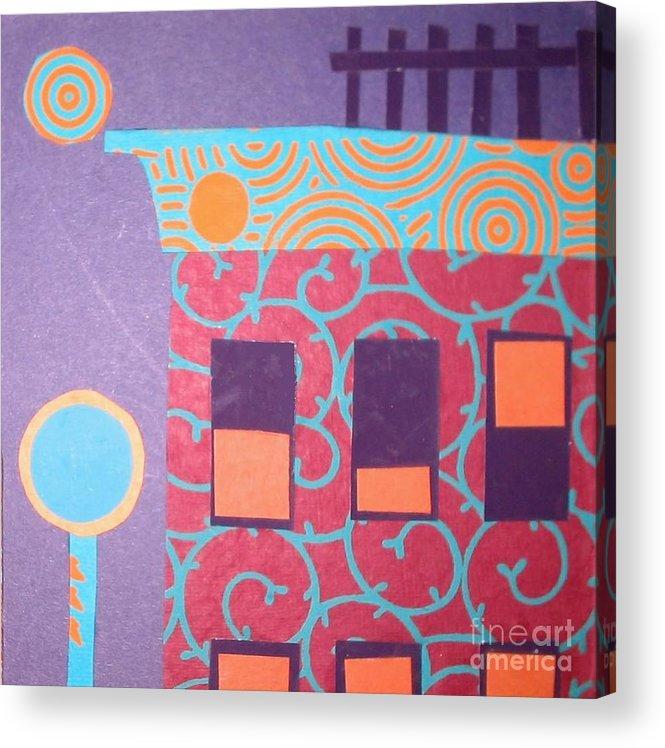 Cityscape Acrylic Print featuring the mixed media Moonlight Funk by Debra Bretton Robinson