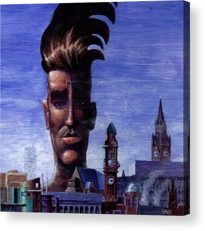 Morissey Acrylic Print featuring the painting Morissey by Ken Meyer jr