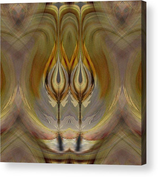 Digital Acrylic Print featuring the digital art Mystical Flowers by Ilona Burchard