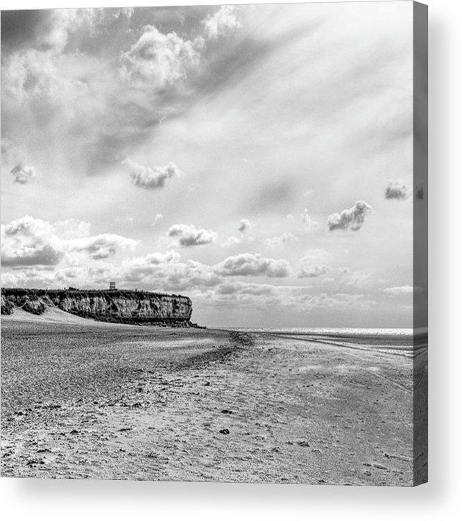 Eastanglia Acrylic Print featuring the photograph Old Hunstanton Beach, Norfolk by John Edwards