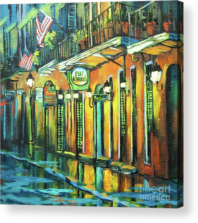 Louisiana Restaurant Acrylic Print featuring the painting Pat O Briens by Dianne Parks