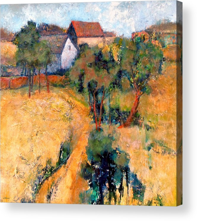 Landscape Acrylic Print featuring the painting Path To The Barns by Dale Witherow