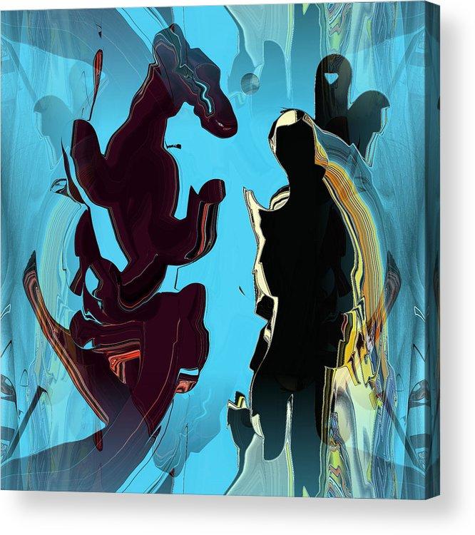 Digital Acrylic Print featuring the digital art Phantasy Vision by Ilona Burchard