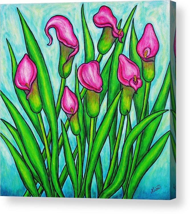 Lisa Lorenz Acrylic Print featuring the painting Pink Ladies by Lisa Lorenz
