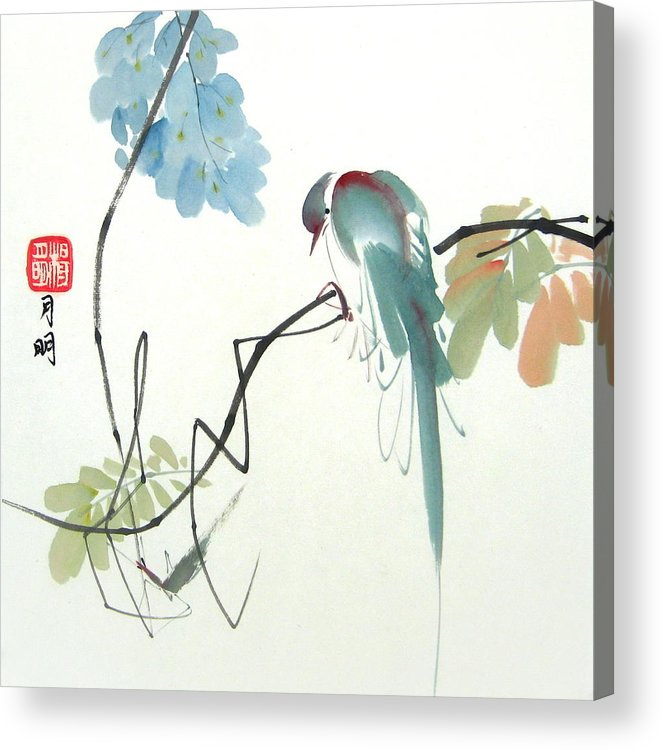 Fauna Acrylic Print featuring the painting Poor prey by Ming Yeung