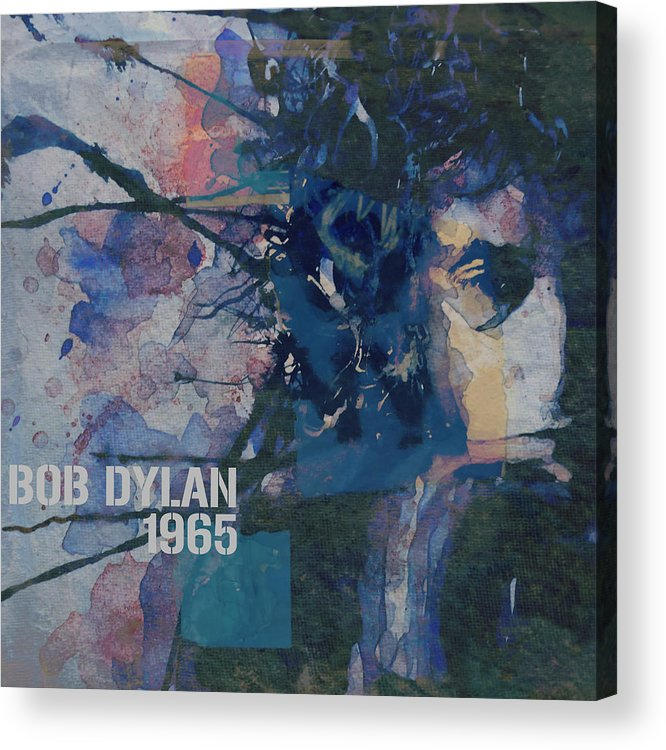 Bob Dylan Acrylic Print featuring the painting Positively 4th Street by Paul Lovering