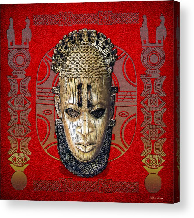 Ethnic Arts Africa By Serge Averbukh Acrylic Print featuring the photograph Queen Mother Idia by Serge Averbukh