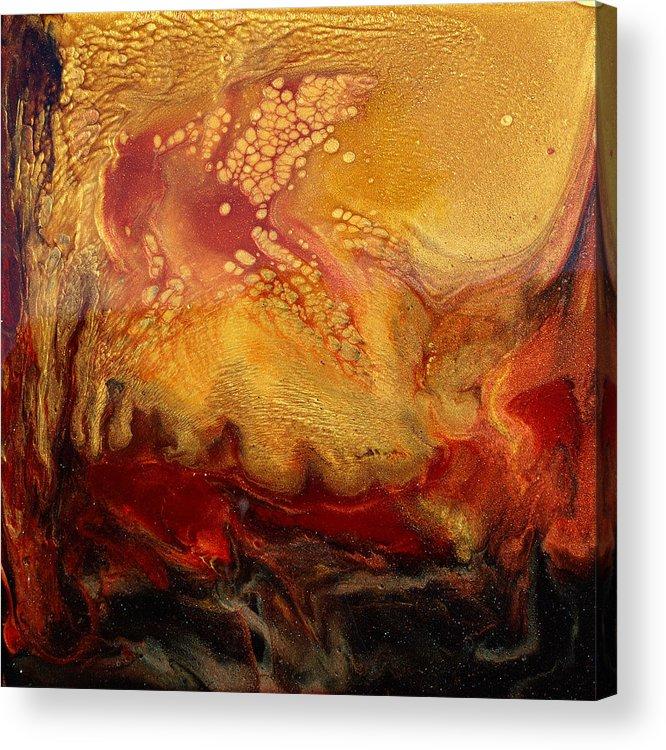 Paul Tokarski Acrylic Print featuring the painting Rage - Left Side by Paul Tokarski