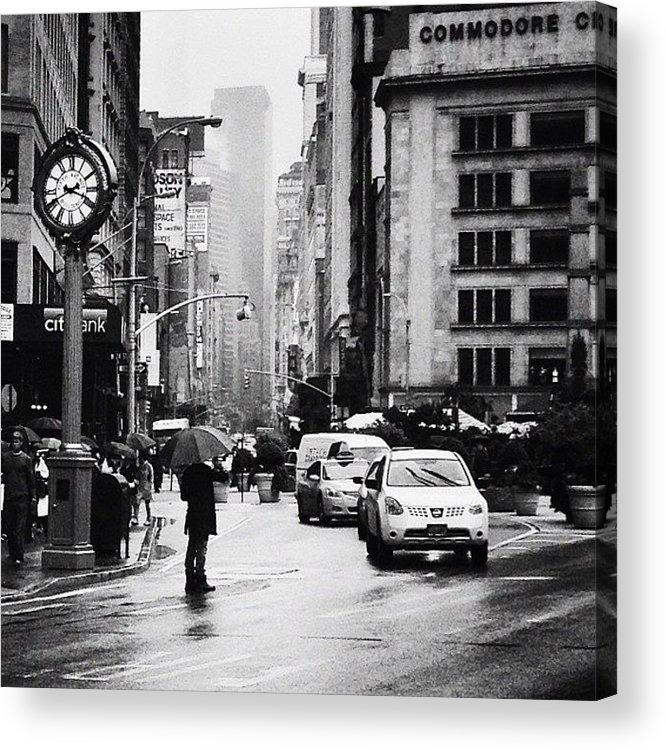 New York City Acrylic Print featuring the photograph Rain - New York City by Vivienne Gucwa