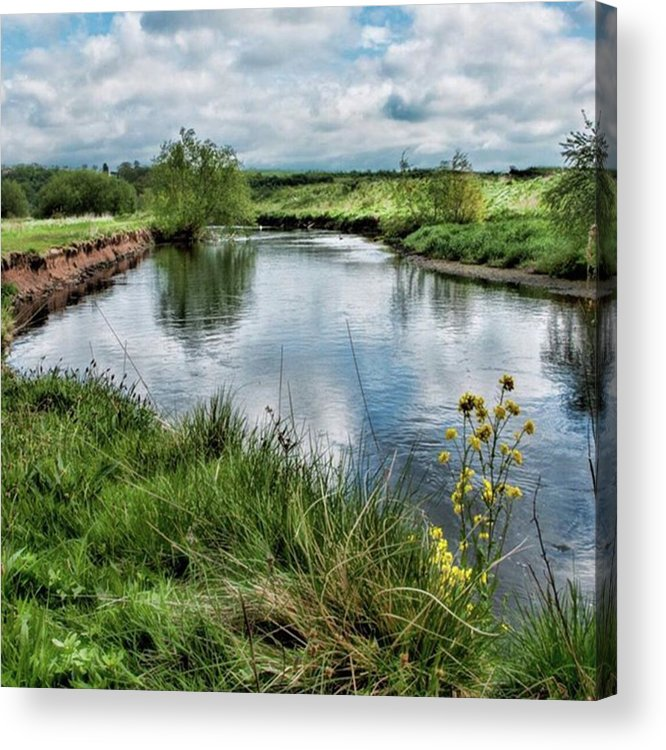 Nature_perfection Acrylic Print featuring the photograph River Tame, Rspb Middleton, North by John Edwards