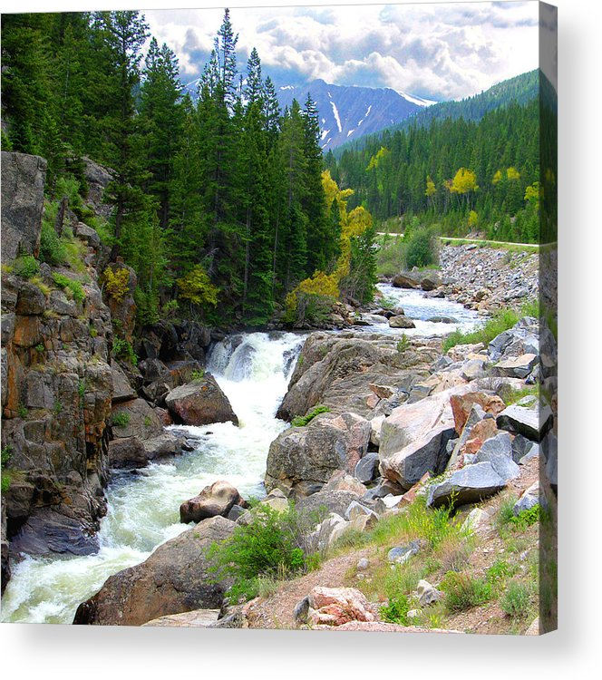 Landscape Acrylic Print featuring the photograph Rocky Mountain Stream by John Lautermilch