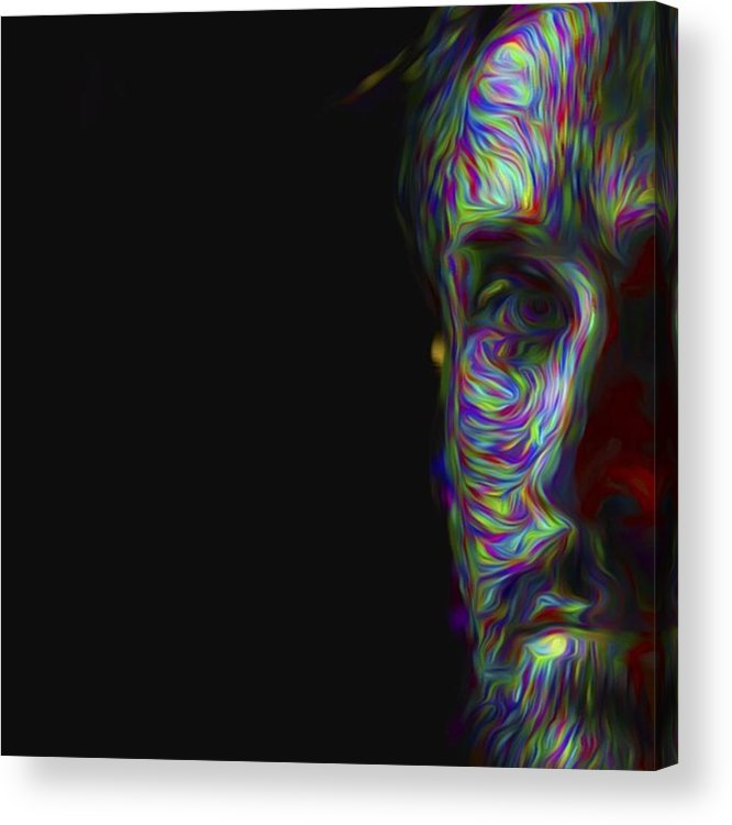 Model Acrylic Print featuring the photograph #ryangosling #gosling #male #actress by David Haskett II
