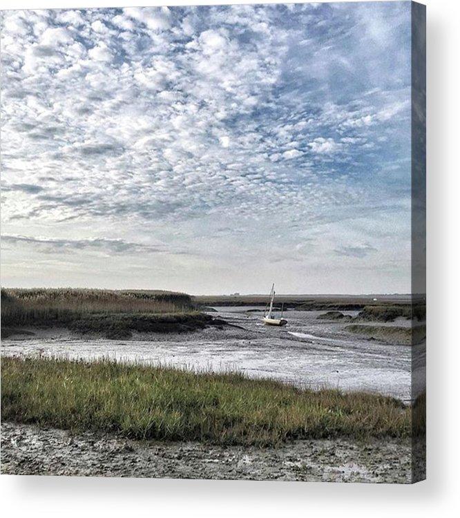 Beautiful Acrylic Print featuring the photograph Salt Marsh And Creek, Brancaster by John Edwards
