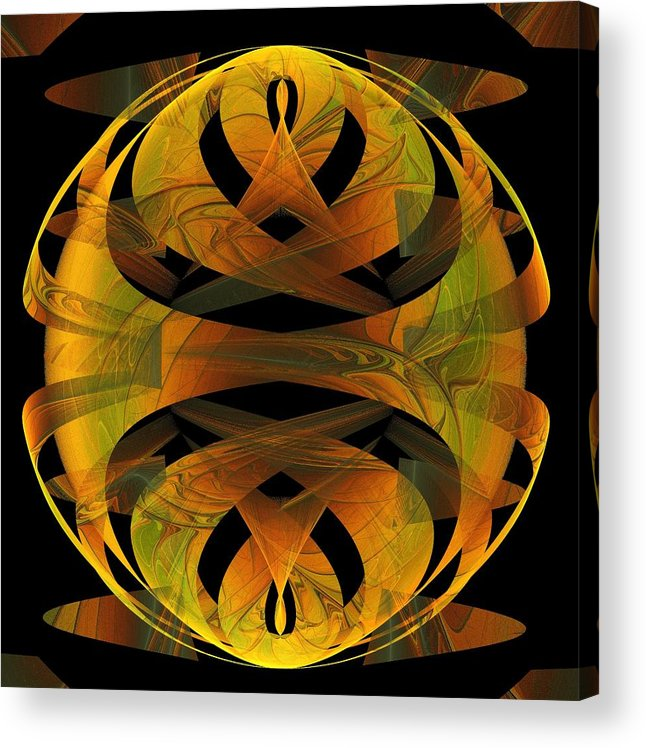 Digital Art Acrylic Print featuring the digital art Scarab by Amanda Moore