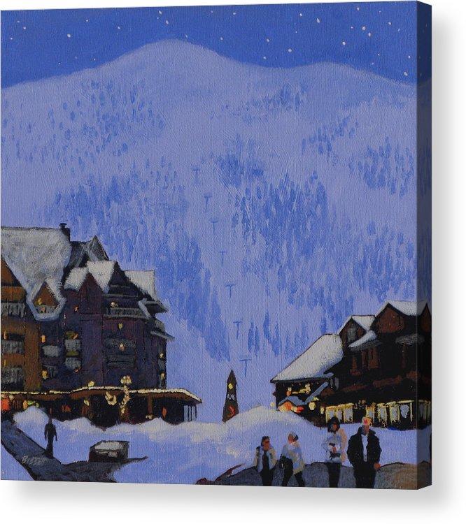 Schweitzer Acrylic Print featuring the painting Schweitzer Nights by Robert Bissett