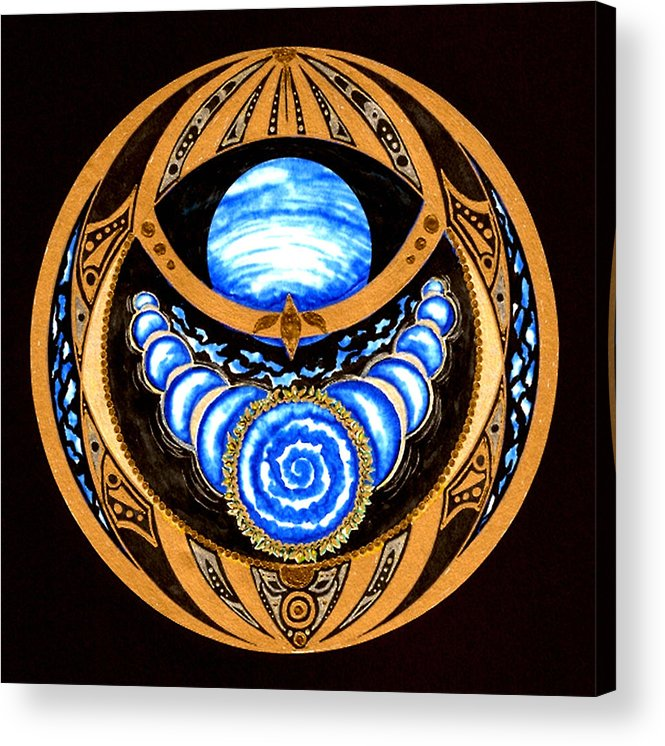 Meditation Acrylic Print featuring the painting Seed Of Imagination by Pam Ellis