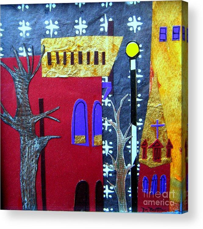 City Acrylic Print featuring the mixed media Snowstorm Backbay by Debra Bretton Robinson