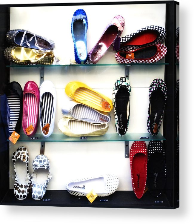 Shoes Acrylic Print featuring the photograph So many shoes... by Marilyn Hunt