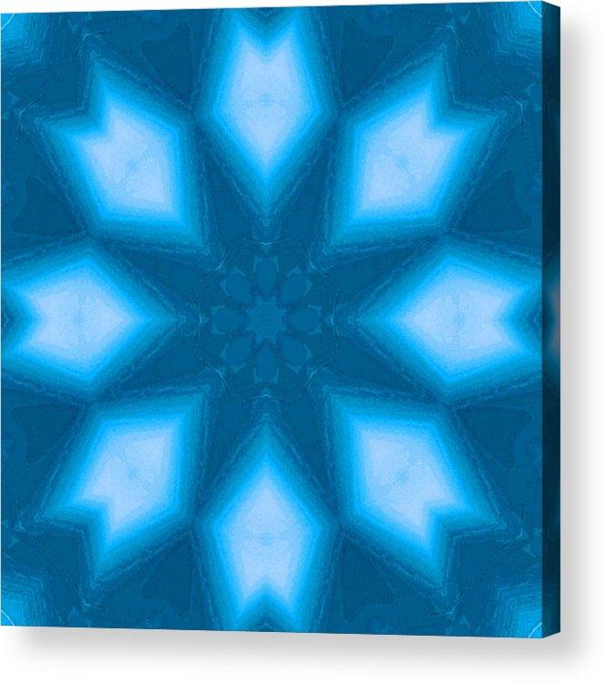 Digital Art Acrylic Print featuring the digital art Spiro #2 by Writermore Arts