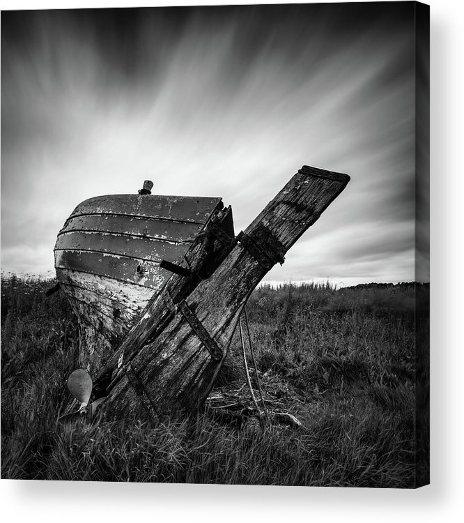 Fishing Boat Acrylic Print featuring the photograph St Cyrus Wreck by Dave Bowman