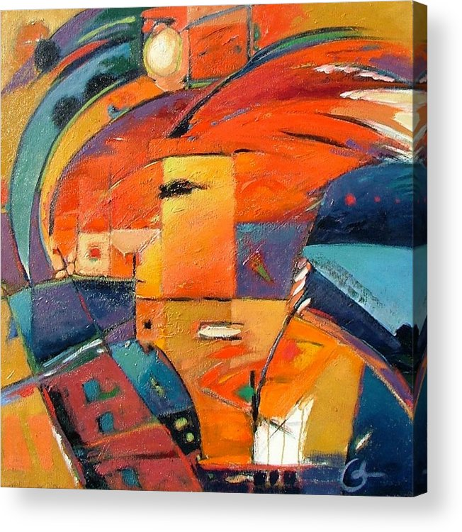 Aabstract Painting Acrylic Print featuring the painting Swaying by Gary Coleman