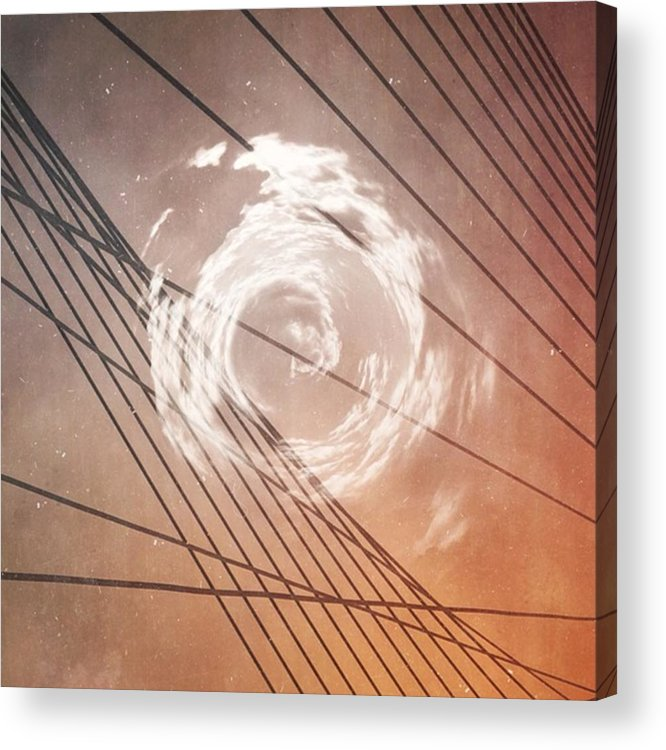 Lines Acrylic Print featuring the photograph The Heart And The Mind So Rarely Agree by Bob Hedlund