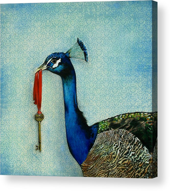 The Key To Success Acrylic Print featuring the painting The Key To Success by Carrie Jackson