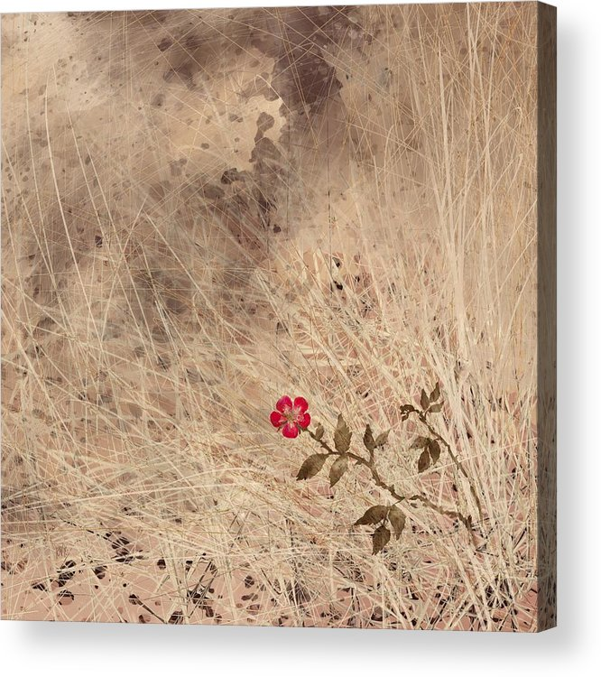 Abstract Acrylic Print featuring the digital art The Last Blossom by William Russell Nowicki